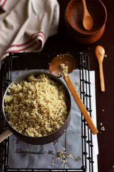 how to cook quinoa. I am sure this would have worked if I didn't panic and add more water after the initial amount.