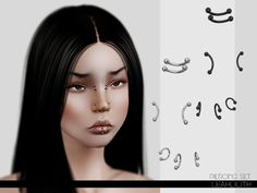 Piercing Set by LeahLillith - Sims 3 Downloads CC Caboodle