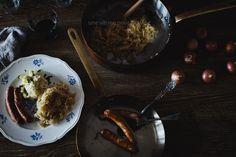 Nürnberger Bratwurst and Sauerkraut with Mashed Potatoes   Une Vitrine Pour Ma Vie