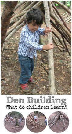 What skills do children learn from Den building