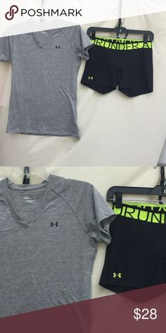 UNDER ARMOUR BUNDLE Both size SM! Both included!! Both flawless! Like new condition!!! Under Armour Tops Tees - Short Sleeve