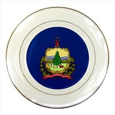New Hampshire Porcelain Plate w/ Display Stand - American Home ...