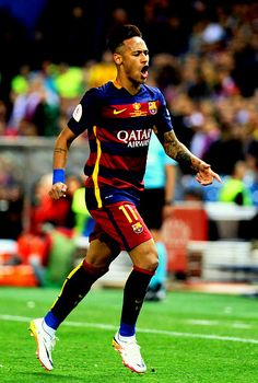 """Barcelona's Brazilian forward Neymar shouts during the Spanish """"Copa del Rey"""" (King's Cup) final match FC Barcelona vs Sevilla FC at the Vicente Calderon stadium in Madrid on May / AFP / CRISTINA QUICLER Neymar Football, Sport Football, Germany Football Team, Camp Nou, Neymar Brazil, Neymar Pic, Ronaldo Juventus, European Football, Lionel Messi"""