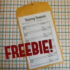 Business Freebie! by The Tutor House.  One way to keep track of your tutoring income.