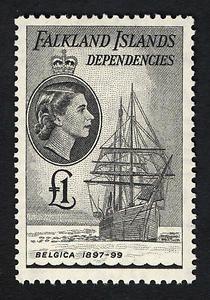 Belgica single - 1954 Falkland Islands stamp More about #stamps: http://sammler.com/stamps/ Mehr über #Briefmarken: http://sammler.com/bm