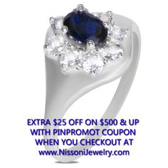 NissoniJewelry.com presents - Created Blue and White Sapphire Flower Ring In 10k White Gold    Model Number:FR8995-W0CWSCSA    Price:$219.99      https://nissonijewelry.com/jewelry/created-blue-and-white-sapphire-flower-ring-in-10k-white-gold/fr8995-w0cwscsa.html
