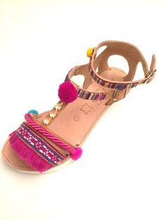 Leather Sandals Emmanouela Handmade to order
