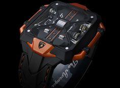 Lamborghini Avenger Vertical Tourbillon Watch Concept