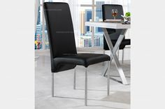 Modern style armless dining chair with long backrest - MelodyHome.com
