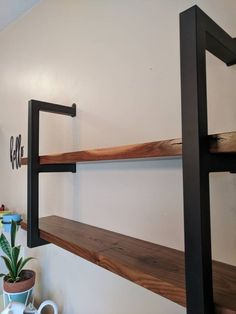 Industrial Shelving Unit, Welded, Heavy Duty, Made in USA. — Tired Trucker Designs and Grumpy Uncle Metal Art Wood And Metal Shelves, Wooden Shelves, Floating Shelves, Industrial Shelving Units, Wall Shelving Units, Iron Furniture, Furniture Design, Vintage Industrial Furniture, Industrial Lamps