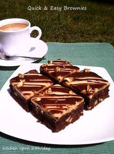 Gabi Naum's kitchen open 24h/day: Brownies cu nuci si stafide
