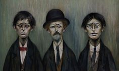 Laurence Stephen Lowry, R.A. Father and Two Sons, 1950