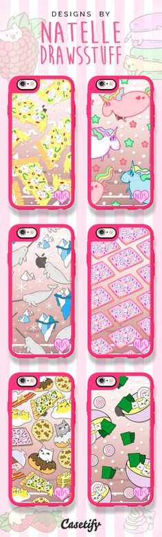 Check out these fun and quirky iPhone 6 case designs by natelledrawsstuff >>> https://www.casetify.com/natelledrawsstuff/collection | @casetify