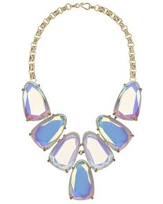 It's finally here! Our Harlow Statement Necklace in Clear Iridescent. Kendra Scott at Cole and Co Tyler!