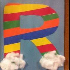R is for Rainbow! Could let the kids each do the first letter of their first name?