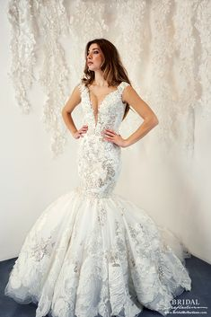 Ysa Makino Wedding Dress and Bridal Gown Collection Bridal Dresses, Bridesmaid Dresses, Bridesmaids, Bridal Reflections, Plus Size Wedding Gowns, Bridal Dress Design, Bride Look, Elegant Wedding Dress, Beautiful Dresses