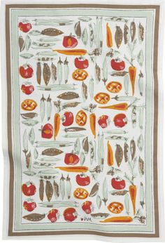 Vera Neumann Vegetable Garden Dishtowel  | Crate and Barrel