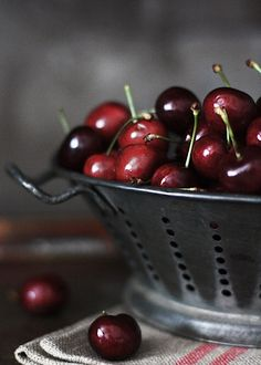 love cherries AND the photograph!  Someone paint this for me on a very large canvas!!!