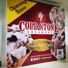 A colder holiday season awaits you here in SM CITY SAN LAZARO! Watch out for Coldstone Creamery opening soon at the Lower Ground Floor! #whatsNew #SMCITYSANLAZARO #SMSanLazaro #Coldstone #IceCream