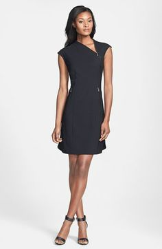 Rachel Roy Zip Neck Dress available at #Nordstrom...not sure about it...simple but unique.  Would not consider this dressy.