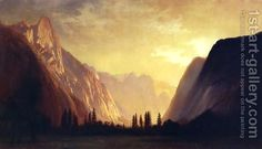 Gilbert Davis Munger--Less known American landscape painter.and one of my distant relatives! He's an amazing painter and handles all the natural aspects of sky and atmospheric perspective extremely well. He deserves more recognition. A4 Poster, Poster Prints, Nordic Art, Yosemite Valley, Canadian Art, Vintage Artwork, Art Images, Old Photos, Photo Art