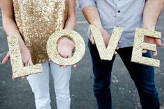 Love Glitter Photo Prop Wedding Decor Signage on Tradesy Weddings (formerly… Wedding Letters, Wedding Signs, Diy Wedding, Wedding Ideas, Dream Wedding, Wedding Stuff, Wedding Blog, Wedding Initials, Wedding Tables