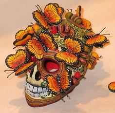 Dias de los Muertos Skulls and Butterflies