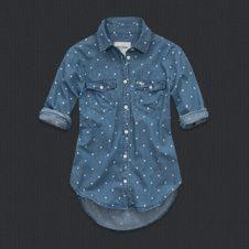 girls kirstie denim shirt from Abercrombie Kids