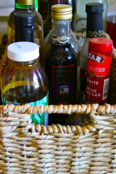 If you aren't using a lazy susan, then this is a good idea to hold and transport these numerous bottles from your pantry to your work area.