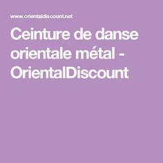 Ceinture de danse orientale métal - OrientalDiscount