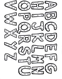 Alfabeto Para Colorear E Imprimir - AZ Dibujos para colorear
