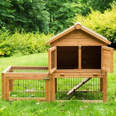 """Deluxe 51"""" Wooden Chicken Coop Hen House Poultry Cage Hutch Nesting Built in Run…"""