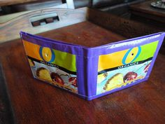 Wallet made from duct tape and juice pouches