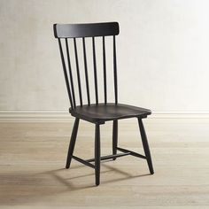 Magnolia Home Black Spindle Back Chair   Pier 1 Imports