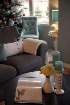 grey blue white living room.