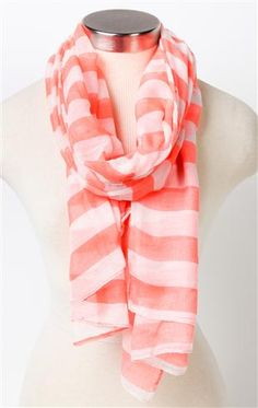 Deb Shops #striped pattern #scarf