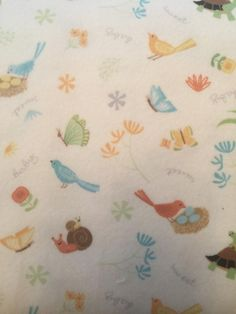 Sweet Meadow Flannel by Arrolynn Weiderhold for Wilmington Fabrics White Background by BungalowQuilting on Etsy