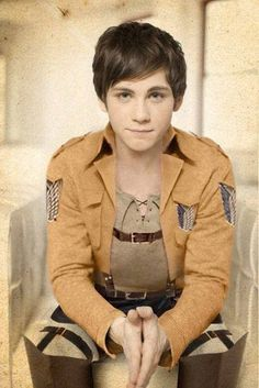 I approve...Logan Lerman as Eren Jeäger. Why does it make so much sense?<< I love this so much