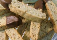 Gluten Free Recipe Box's Gluten Free Biscotti. It has serious amounts of butter and some eggs, but for those that can eat them, this looks like a great recipe.