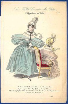 Plate number 7. Le follet courier des salons, 1833