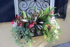window boxes; photos from The Barn Nursery stylist, Sjacha, on a 2014 stroll in Charleston, sc. 2014; more window box ideas on her blog: www.barnnursery.com/blog