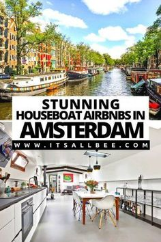 Guide to the best Airbnb houseboats Amsterdam. Stunning centrally located houseboats for a romantic couples getaway, group or solo travel. Plus tips on how to book stay on a houseboat in Amsterdam. #Netherlands | Romantic Houseboat Amsterdam Airbnb | Houseboat Rental Amsterdam | Airbnb Amsterdam Houseboat | Luxury Houseboat Rentals Amsterdam | Cheap Houseboat Amsterdam | houseboat amsterdam floating homes | Amsterdam Houseboat Interior | Houseboats In Amsterdam | Best Airbnb In Amsterdam Houseboat Amsterdam, Amsterdam Travel, European Vacation, European Destination, European Travel, Outfits Winter, Outfits Spring, Europe Travel Guide, Travel Guides