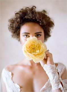 bride with yellow flower