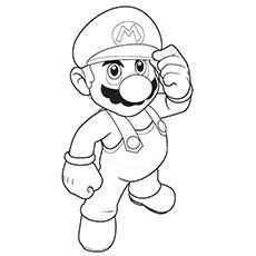 top 20 free printable super mario coloring pages online - Super Mario Luigi Coloring Pages