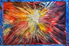 Exploded star Abstract Oil Painting #mypainting #oil #paint #art #abstract New Life