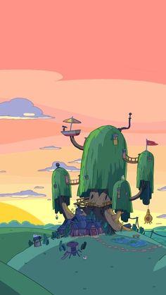 Cartoon Wallpaper Iphone, Anime Scenery Wallpaper, Kawaii Wallpaper, Cute Wallpaper Backgrounds, Cute Cartoon Wallpapers, Disney Wallpaper, Animes Wallpapers, Wallpaper Art, Adventure Time Background