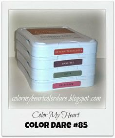 Color My Heart: Color Dare #85 - Autumn Terracotta, Barn Red, Olive, & Hollyhock