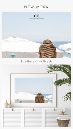 Buddha at a beach club in Cannes, France. Prints available unframed and framed. Coastal Wall Decor, Coastal Art, Beach House Decor, Coastal Living, Large Prints, Fine Art Prints, France Art, Cannes France, House Art