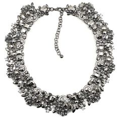 New design Mix black Crystal bib Statement Chunky Necklace collar for women 2014 #new #Statement