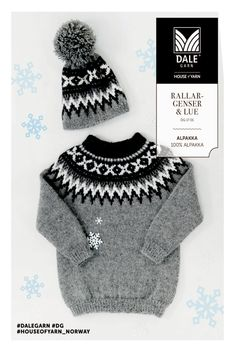 Rallargenser til barn (Lothepus-genseren fra Fjorden Cowboys) Knitting Pullover, Handgestrickte Pullover, Hand Knitted Sweaters, Baby Sweaters, Knitting For Kids, Baby Knitting, Cozy Fashion, Kids Fashion, Rowan Felted Tweed